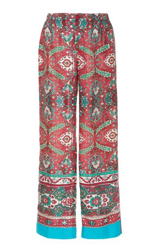 CABANA | CABANA Printed Wide Leg Silk Trousers | Goxip