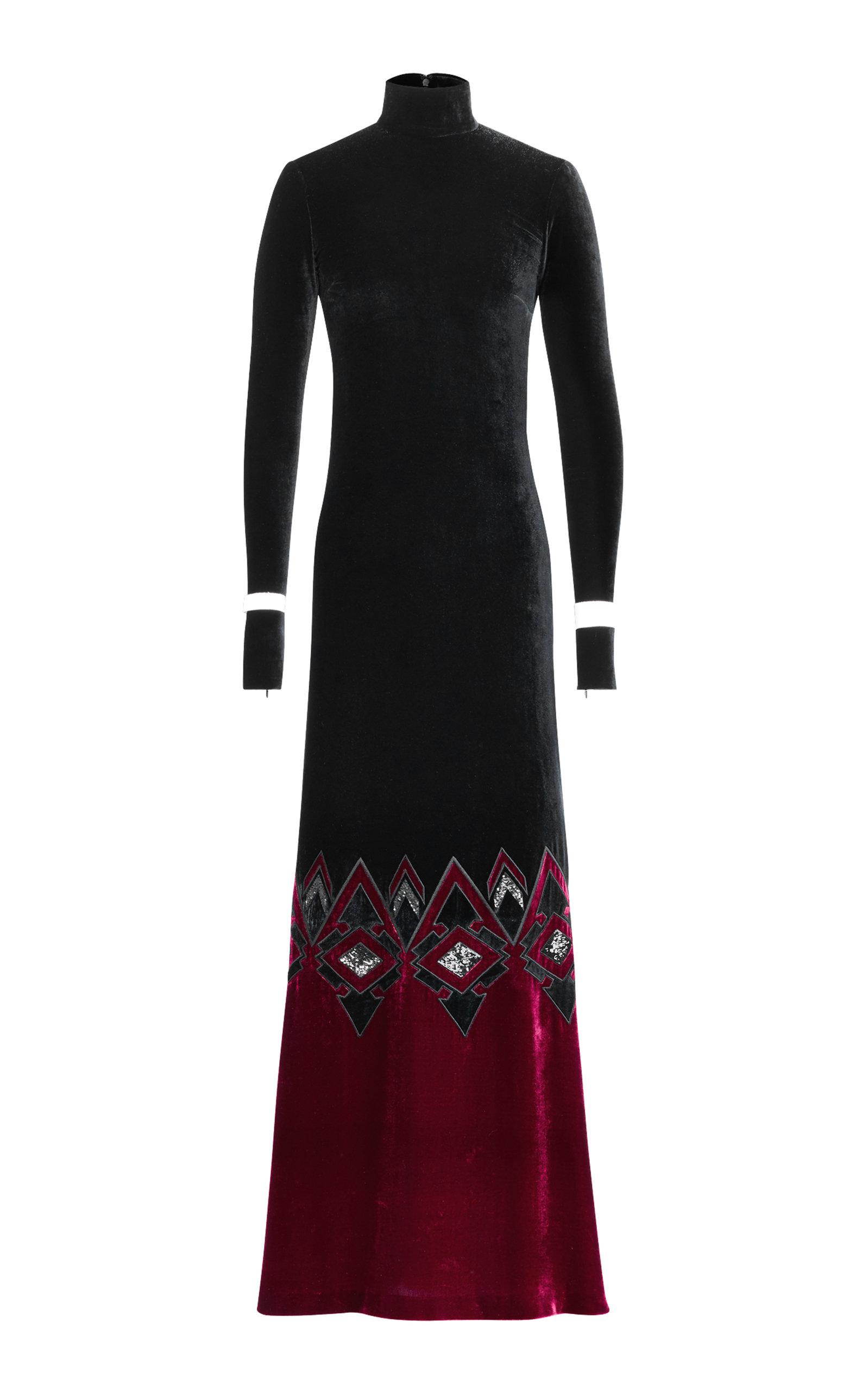 Ralph Lauren 50th Anniversary Reiley Turtleneck Long Sleeve Velvet