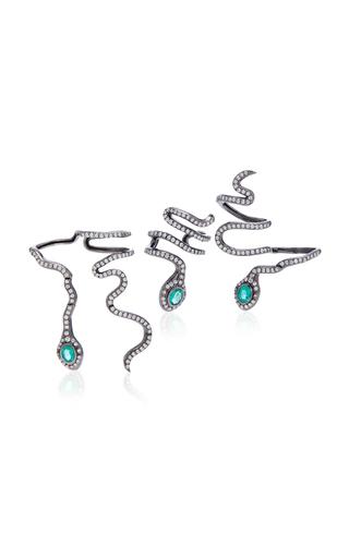 COLETTE JEWELRY   Colette Jewelry Eden 18K Black Gold And Diamond Hand Piece   Goxip