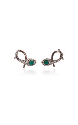 COLETTE JEWELRY | Colette Jewelry Earth Snake 18K Black Gold Earcuffs | Goxip