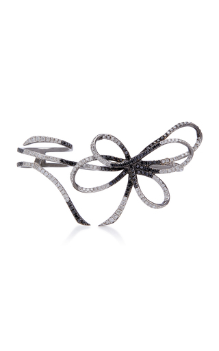 COLETTE JEWELRY | Colette Jewelry Belle Two-Tone 18K Black Gold And Diamond Three-Finger Ring | Goxip