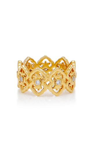 COLETTE JEWELRY | Colette Jewelry Motif 18K Gold And Diamond Ring | Goxip