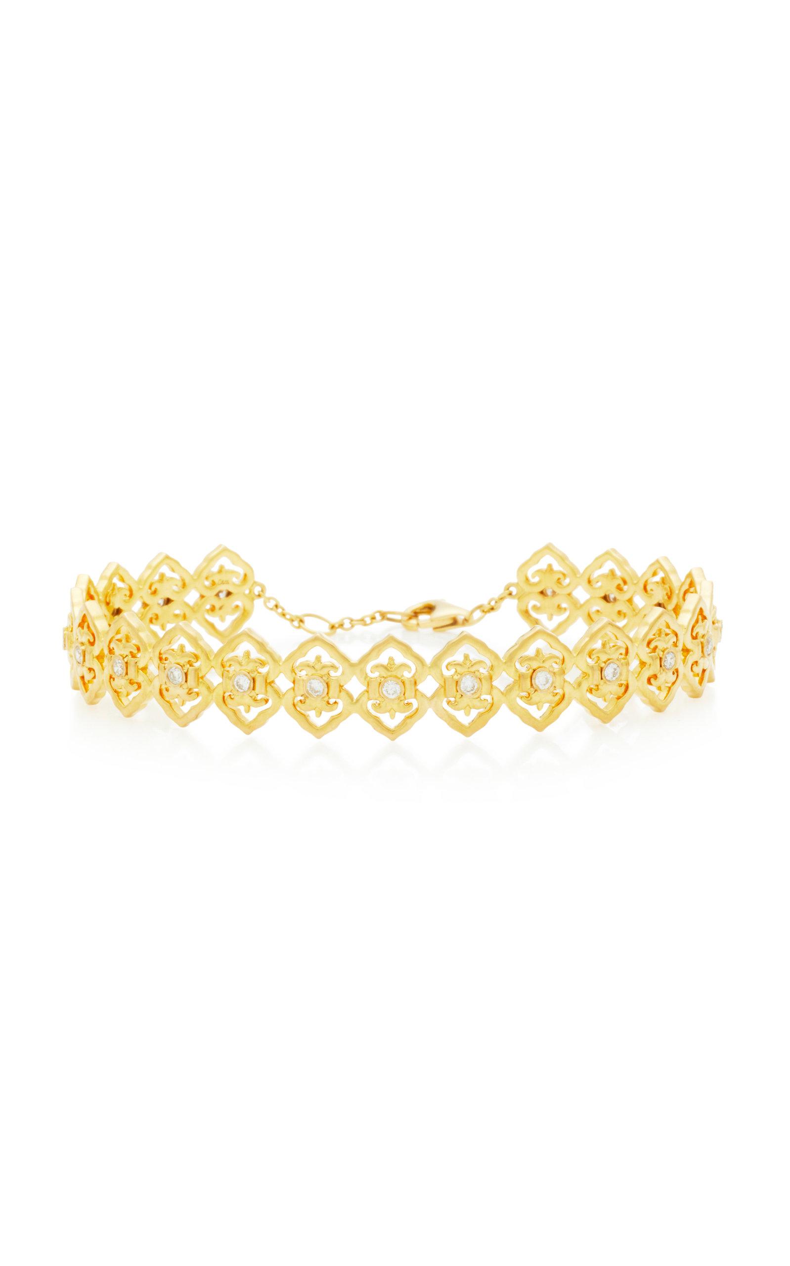 COLETTE JEWELRY Motif 18K Gold And Diamond Bracelet