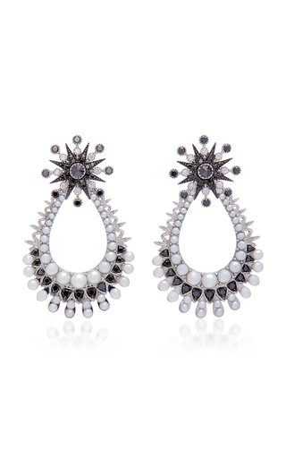 COLETTE JEWELRY | Colette Jewelry 18K Oxidized Gold Diamond Earrings | Goxip