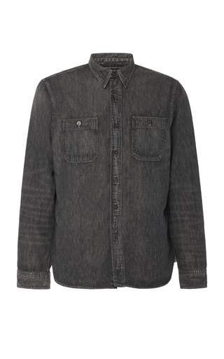 RRL | RRL Harvest Cotton-Chambray Shirt | Goxip