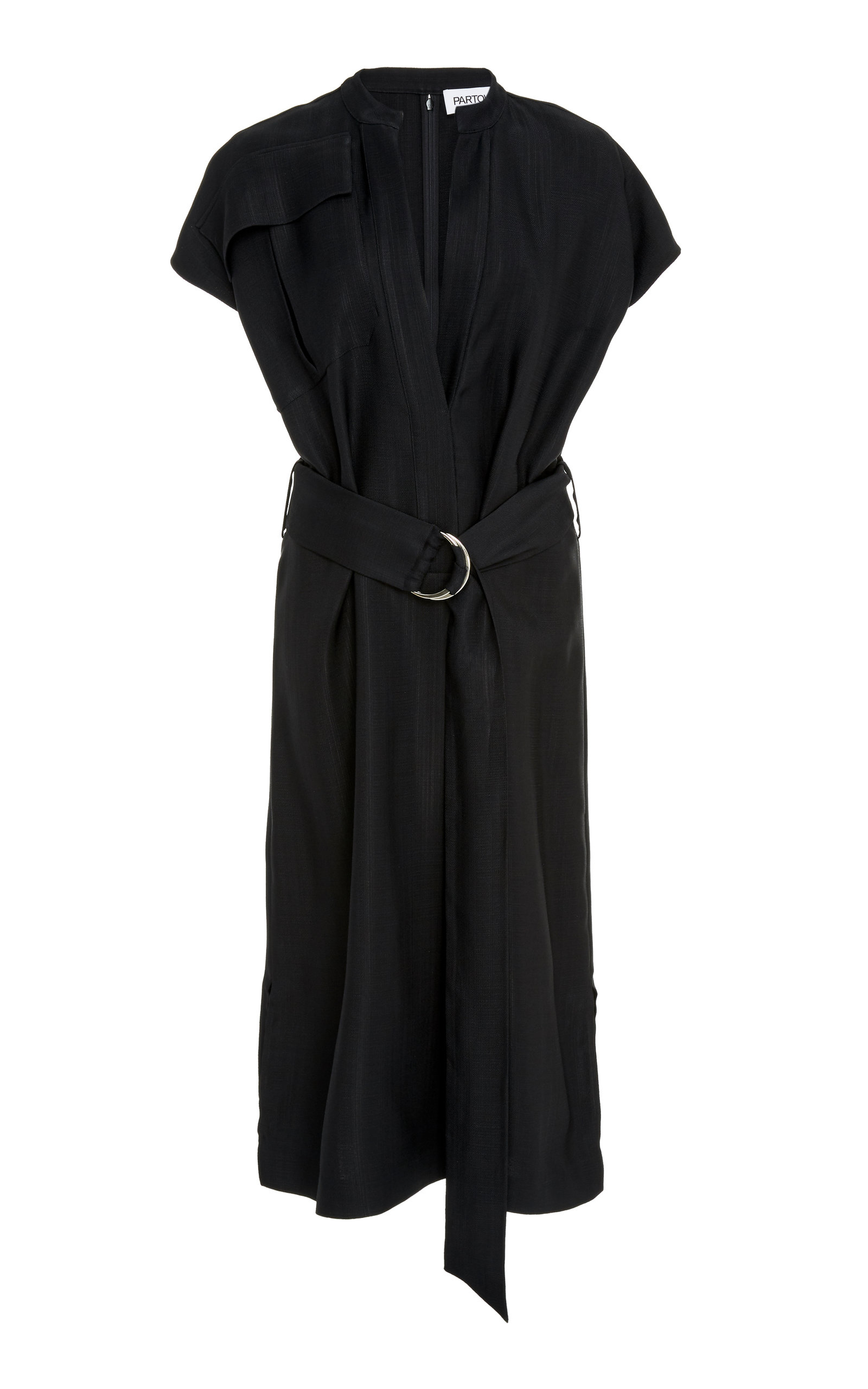Partow TRISTAN BELTED SHIRTDRESS