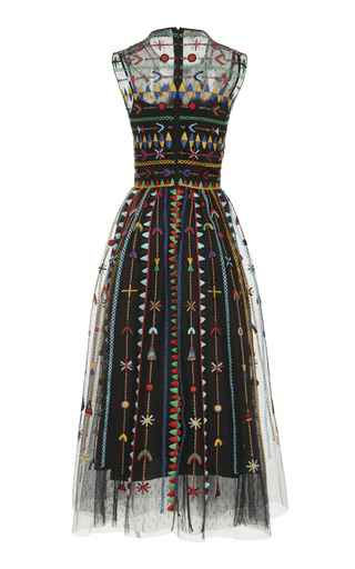 61d37ae8abd Floral Embroidered Macramé Dress by Red Valentino