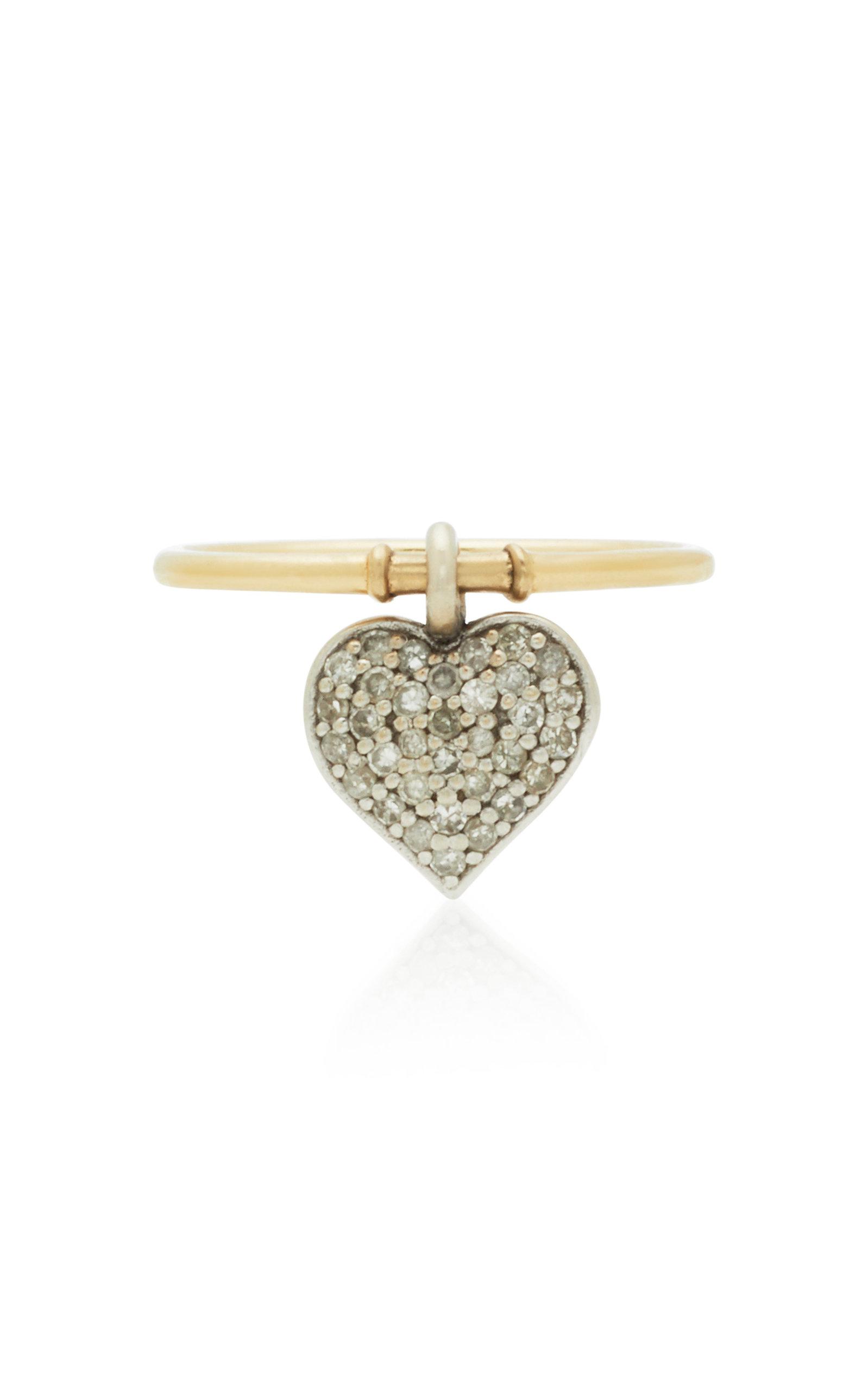 NANCY NEWBERG 14K Yellow And White Gold Diamond Ring