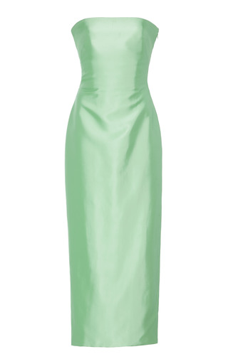 f4815ec69d2 Strapless Knotted-Back Satin Cocktail Dress by Brandon Maxwell ...