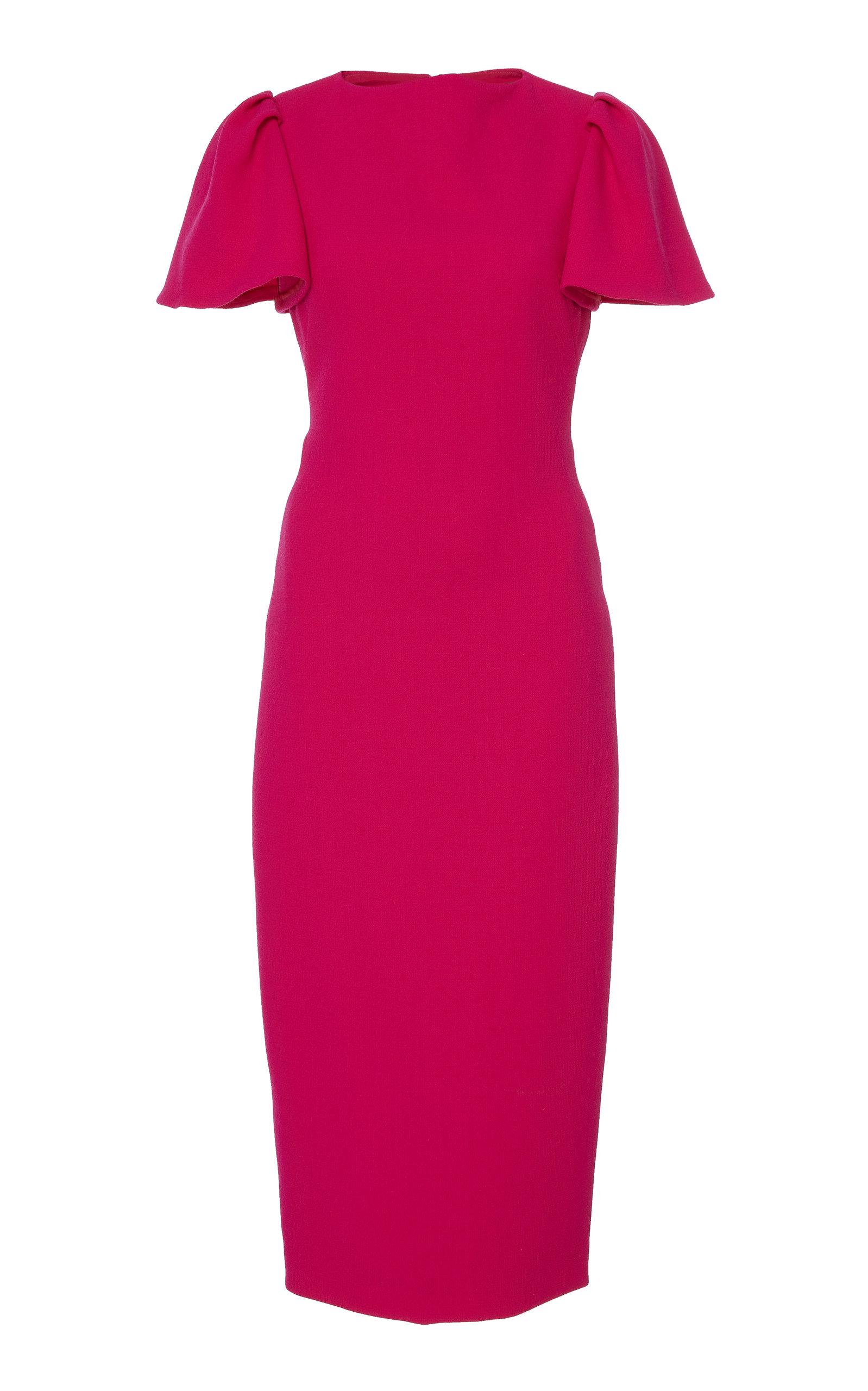 705cb85d9e8 Brandon Maxwell Flutter-Sleeve Crepe Midi Dress