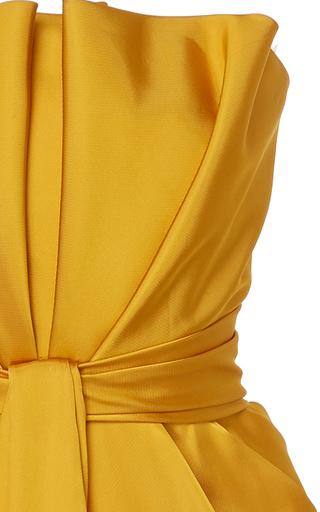 f0d38213d7374 Brandon MaxwellPetal Front Satin Cocktail Dress
