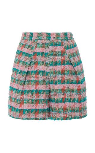 ZAC POSEN | Zac Posen High-Rise Tweed Shorts | Goxip