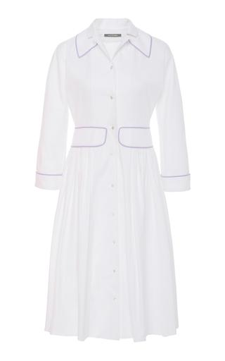 ZAC POSEN | Zac Posen Cotton-Blend Shirt Dress | Goxip