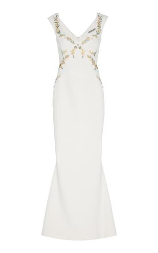 ZAC POSEN | Zac Posen Embellished Bonded Crepe Gown | Goxip