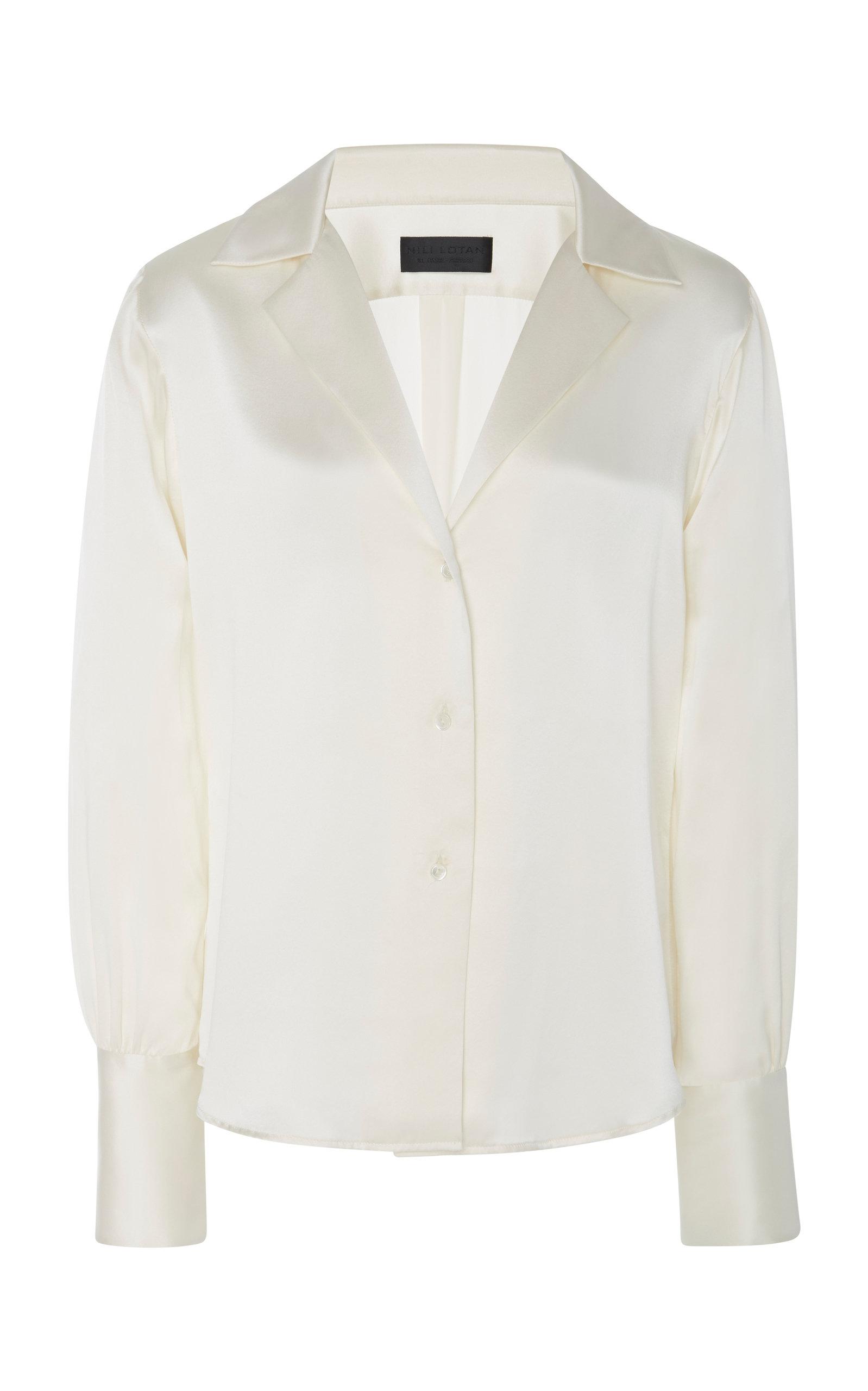 NILI LOTAN   NILI LOTAN Emmen Silk Shirt   Goxip