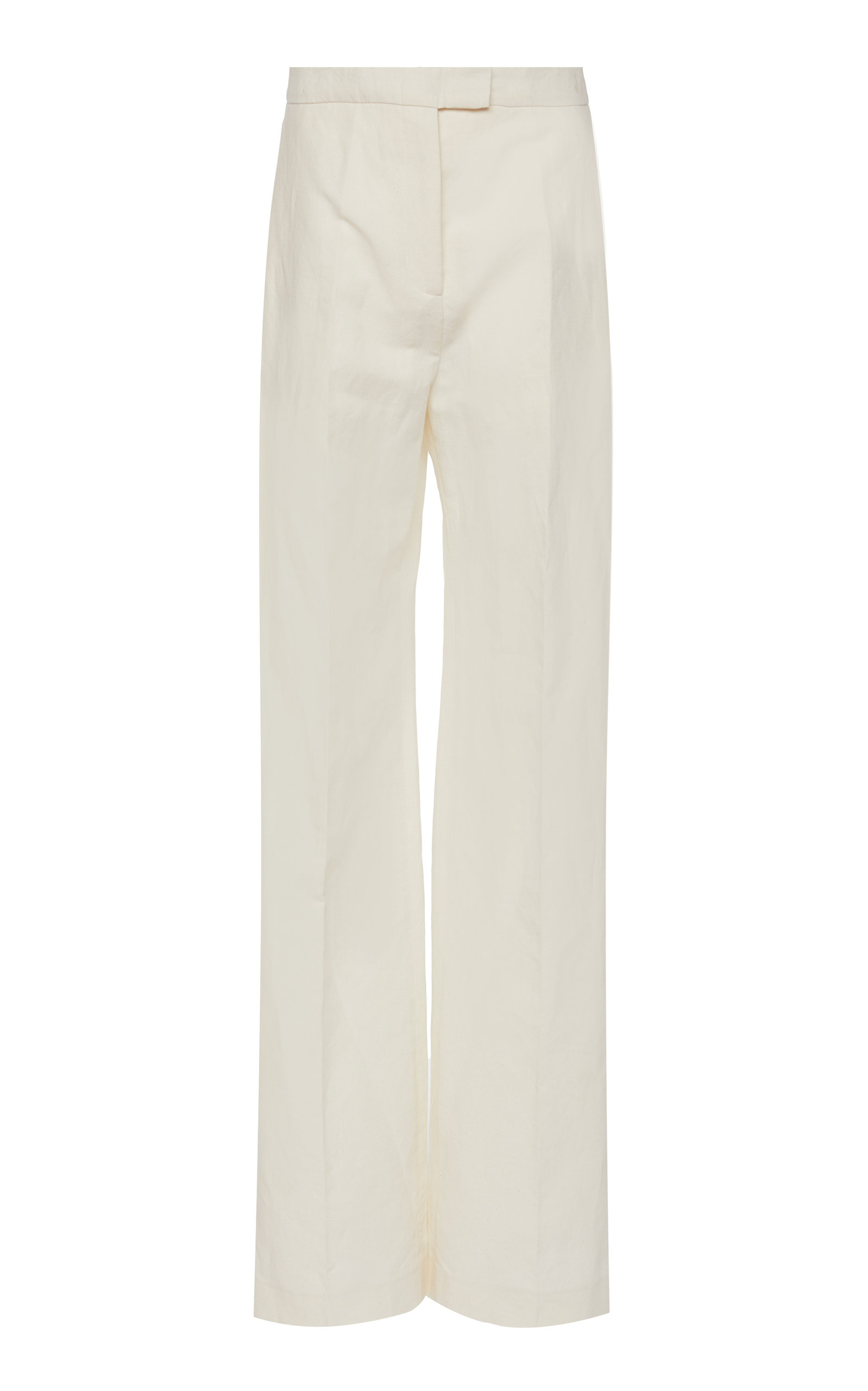 Brock Collection ORFEO COTTON AND LINEN STRAIGHT-LEG PANTS