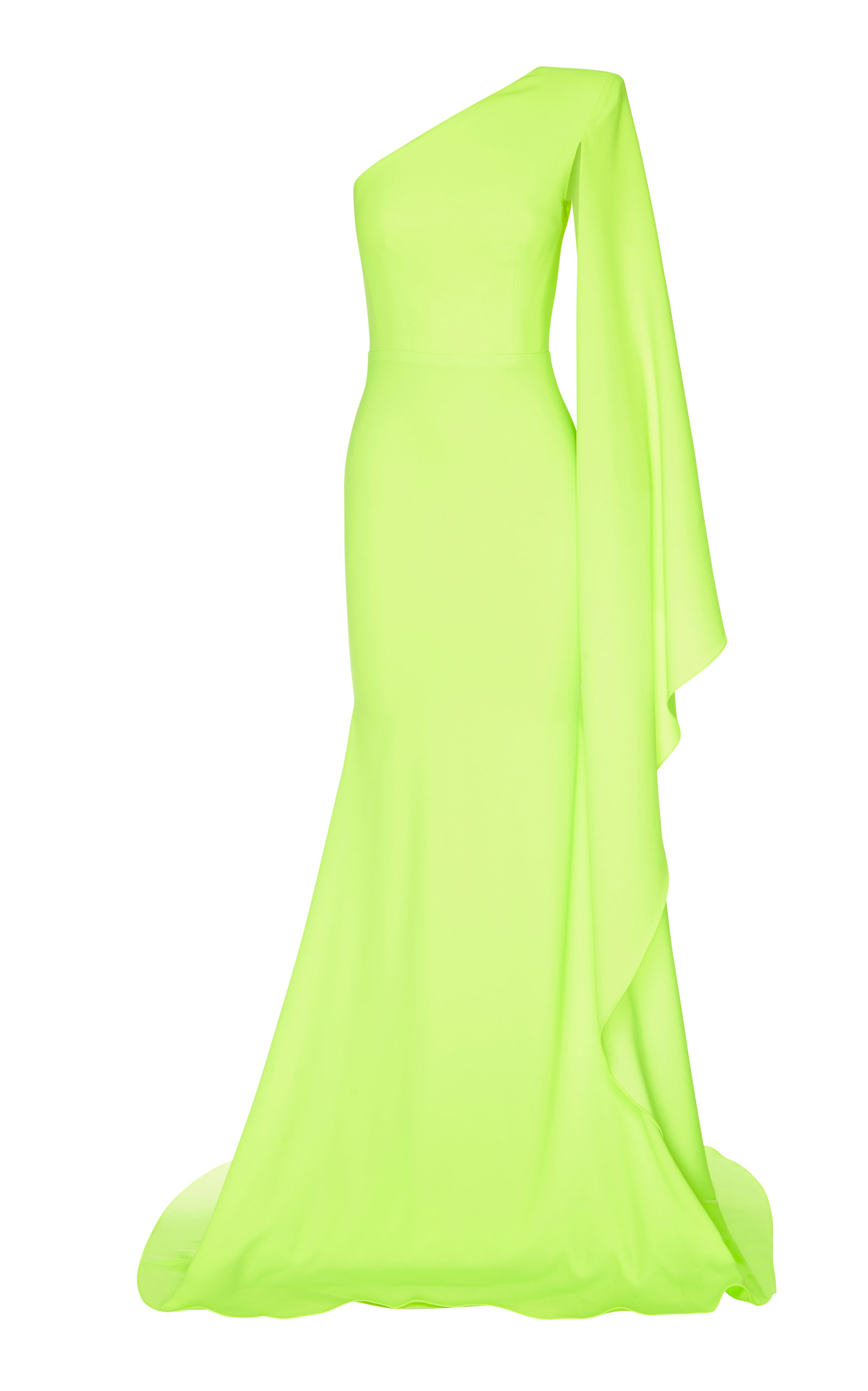 ALEX PERRY | Alex Perry Aurelie One-Shoulder Satin Crepe Gown | Goxip
