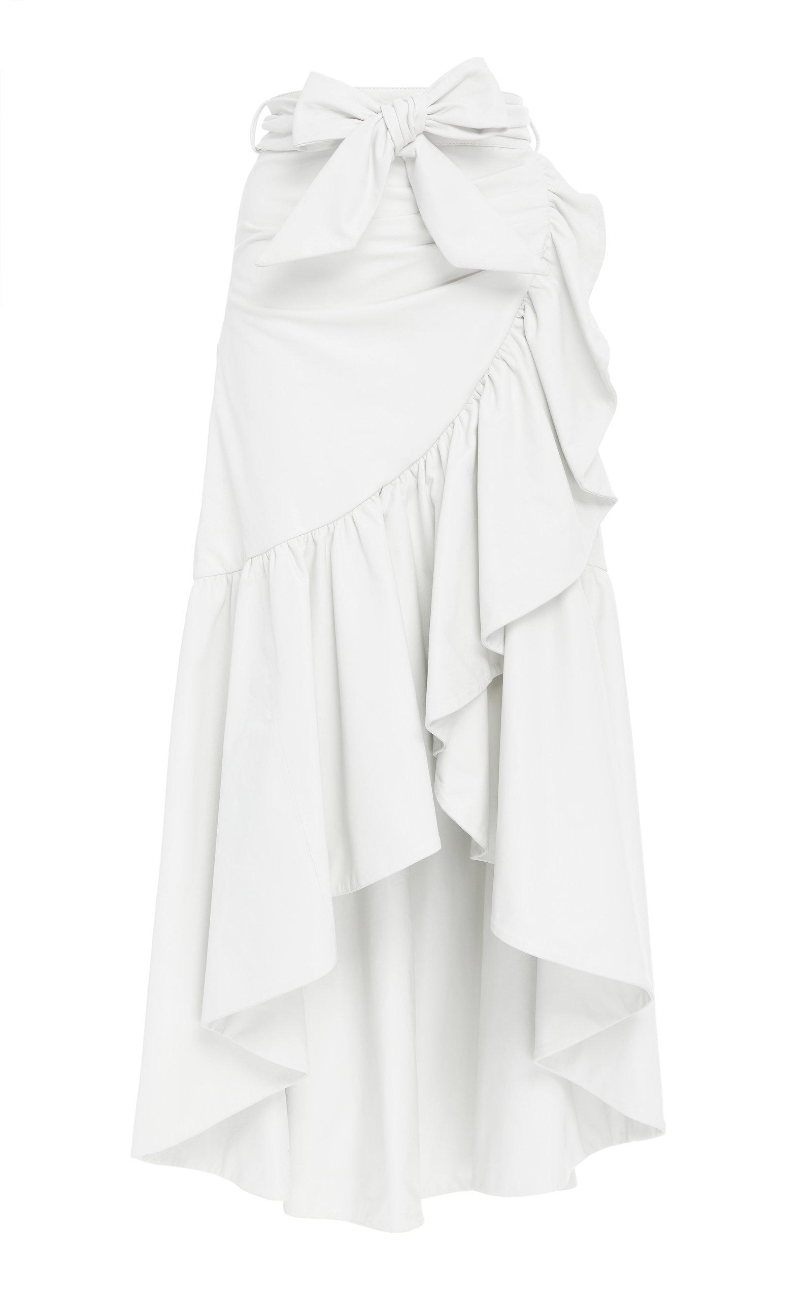 ae7f2c79ee Ruffle Leather Skirt by Rodarte | Moda Operandi