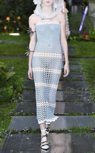 cdd42fe1f99 Stripe Hand-Crocheted Open-Knit Tube Dress by Rodarte