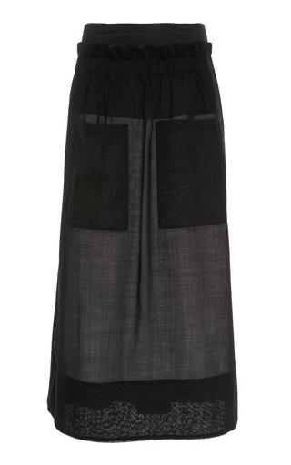 TIBI   Tibi Gauze Overlay Skirt   Goxip