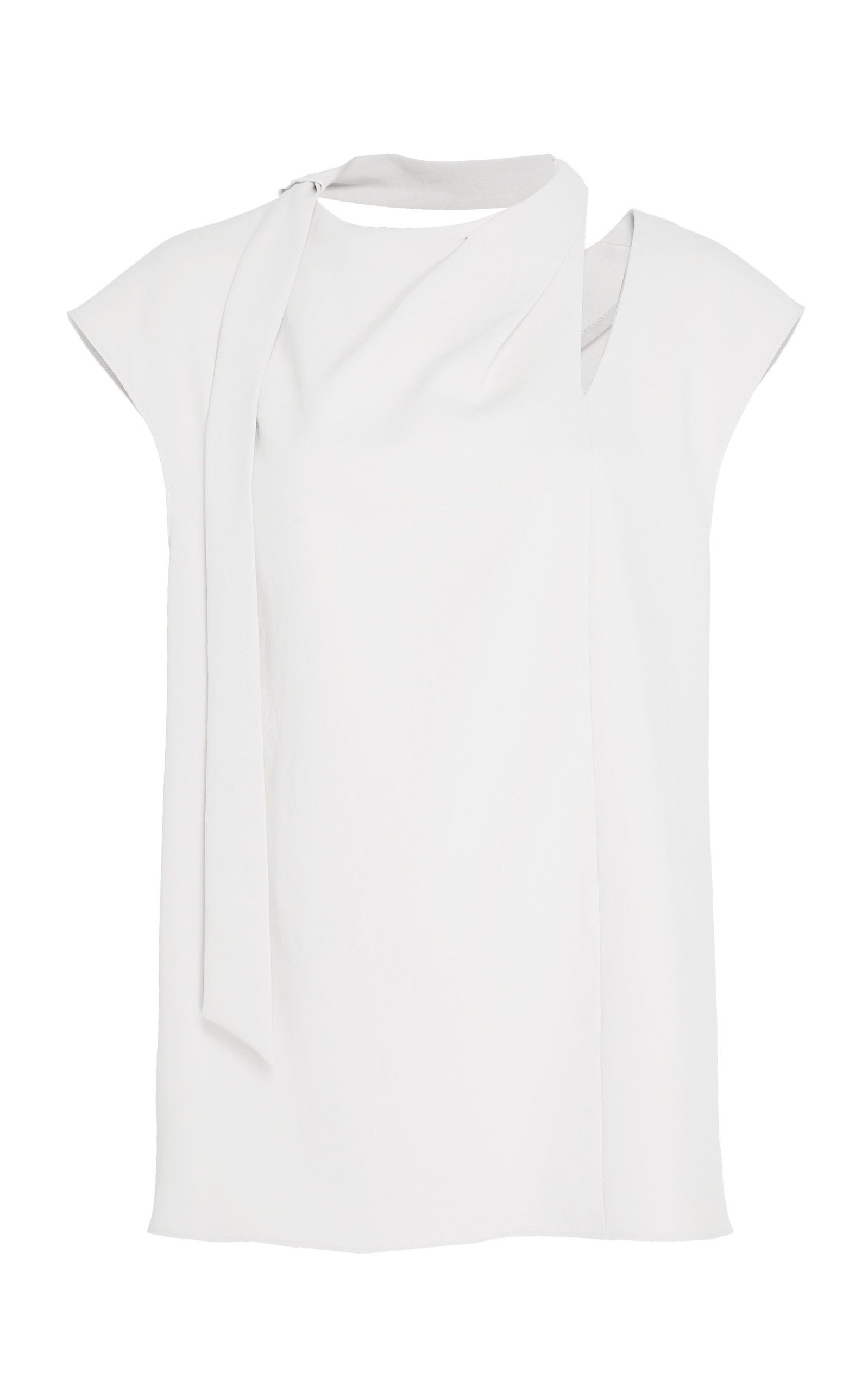 TIBI CUTOUT TWILL TOP