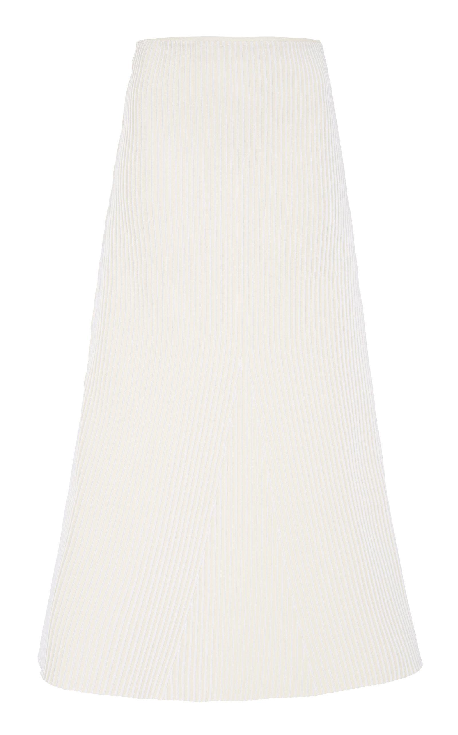 Tibi Ribbed-knit Midi Skirt
