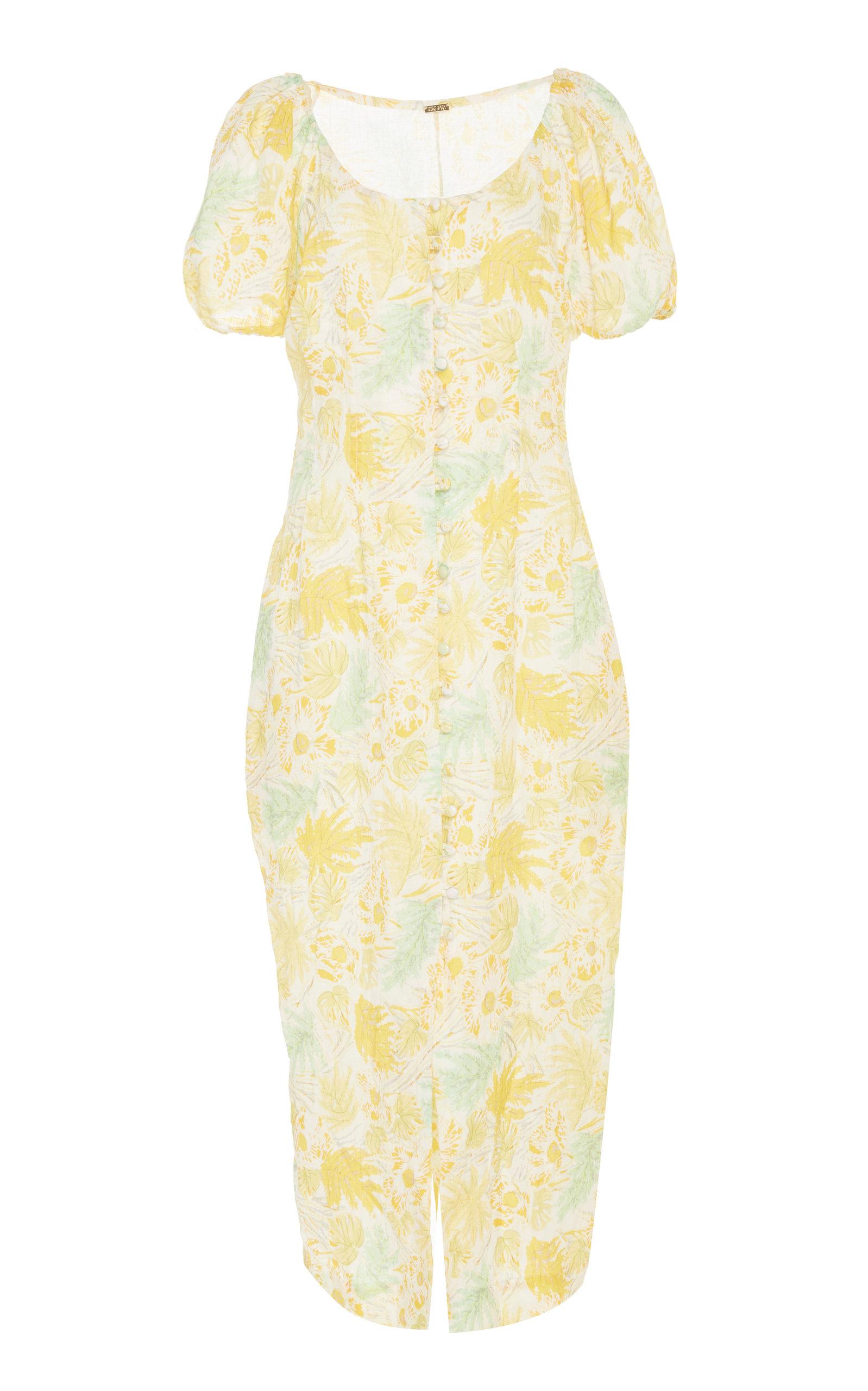 CULT GAIA | Cult Gaia Charlotte Linen And Cotton-Blend Dress | Goxip