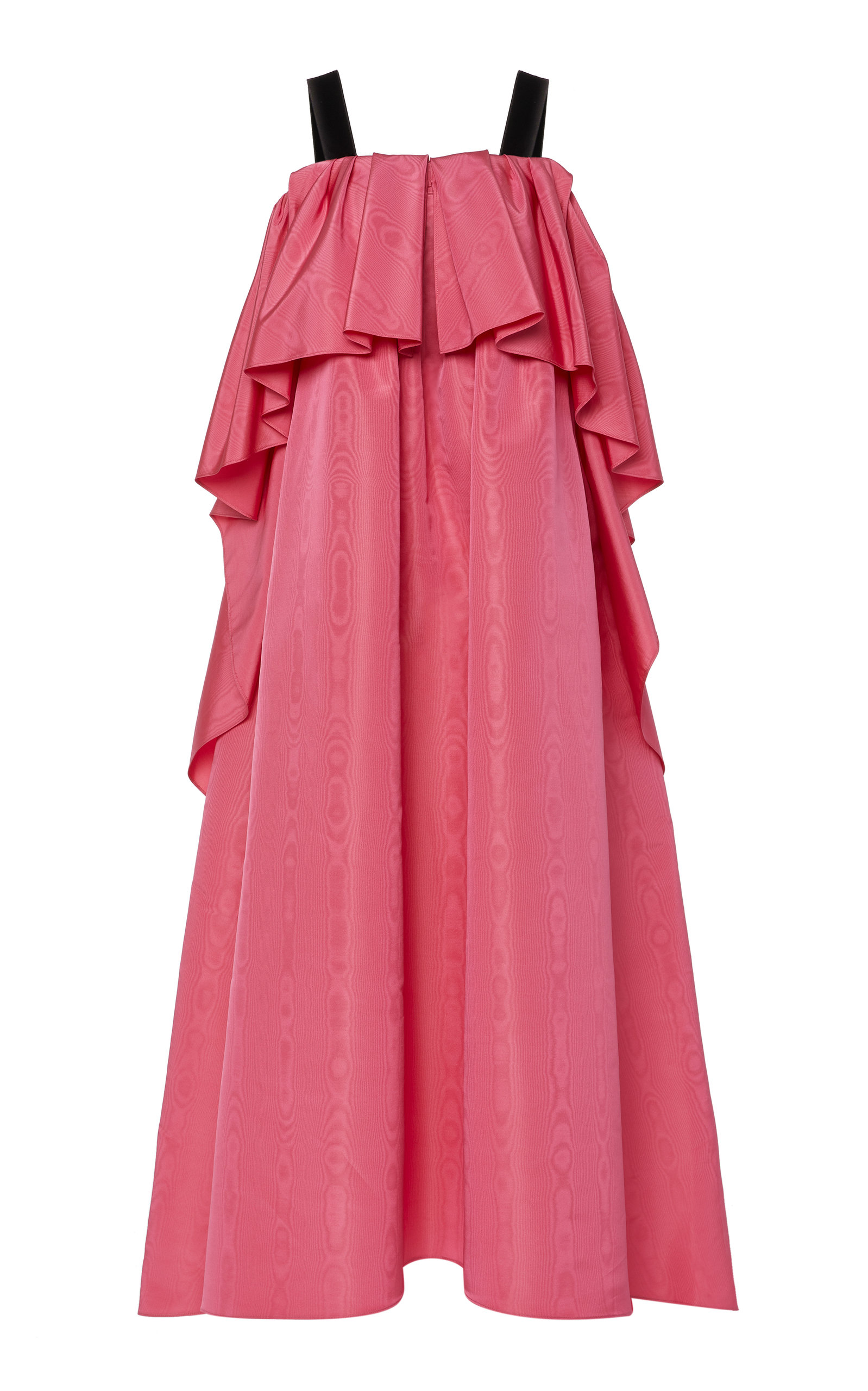 Adam Lippes MOIRÉ PLEATED GOWN