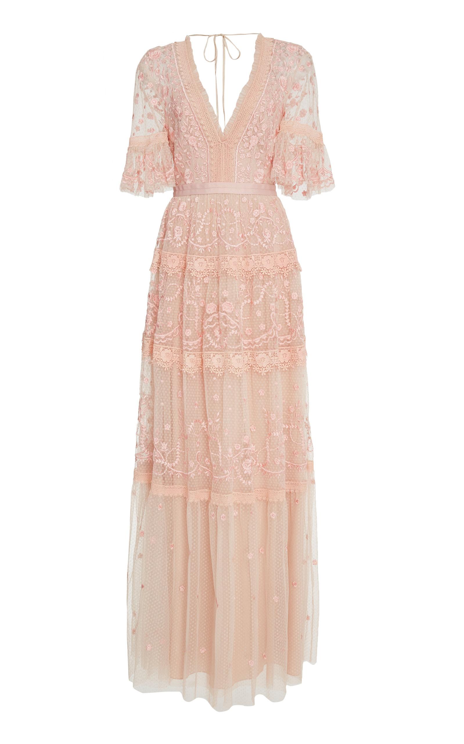 41100a223b0e Midsummer lace gown by Needle & Thread | Moda Operandi