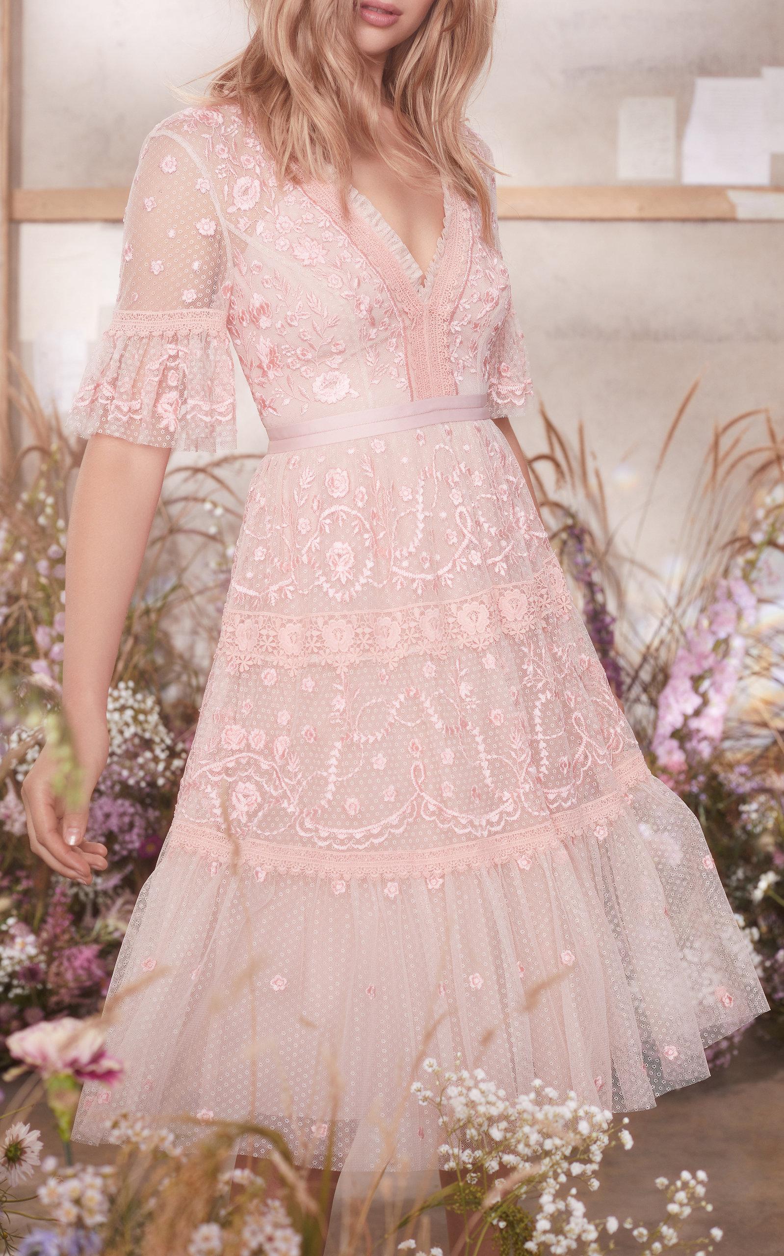 a3f1bb50d2ea Midsummer lace dress by Needle & Thread | Moda Operandi