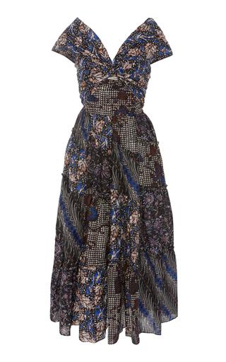 36a5ef423a72 Anna Silk-Georgette Tiered Maxi Dress by Borgo De Nor | Moda Operandi