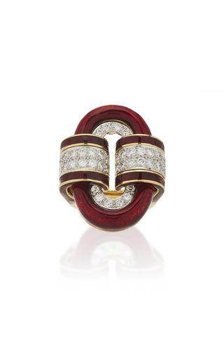 DAVID WEBB | David Webb Oval Buckle Ring | Goxip