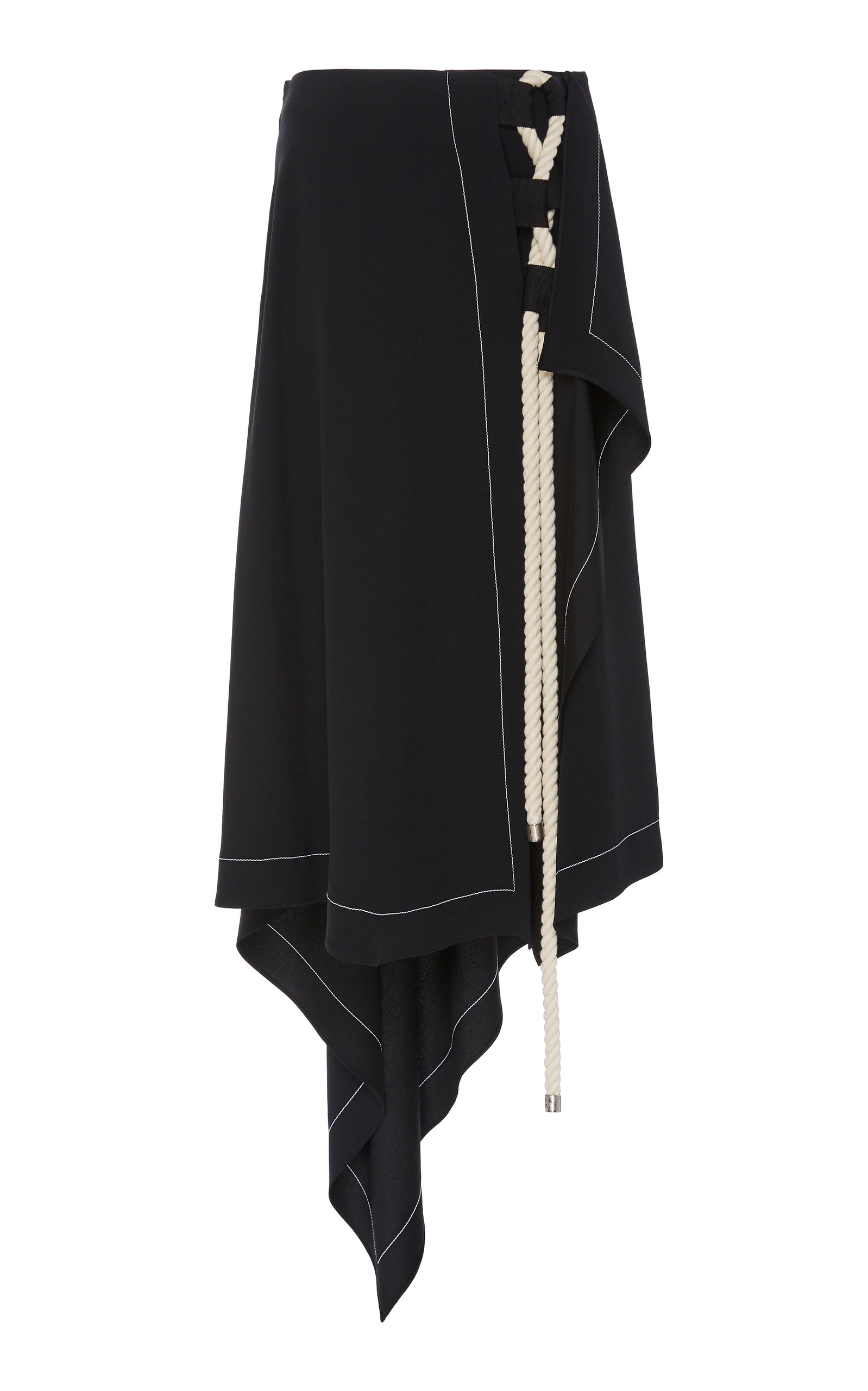 Monse ASYMMETRICAL WRAP SKIRT WITH INTERLACING ROPE