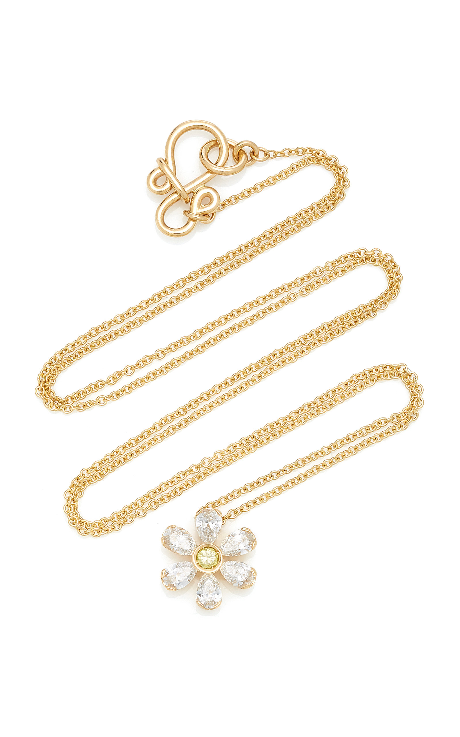 36d7763cc Canary Marguerite 18K Gold Diamond Necklace by Sophie Bille Brahe ...