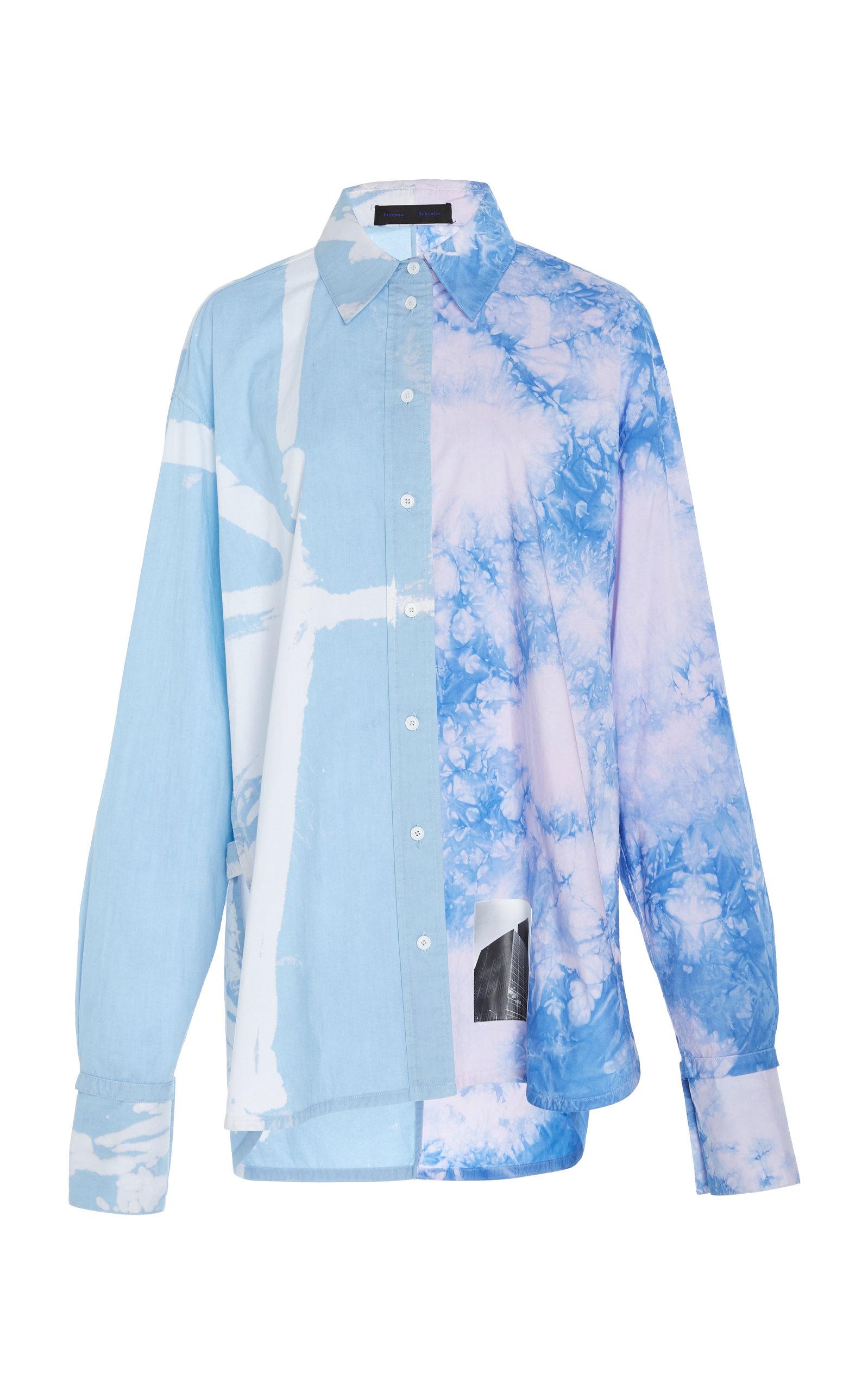 5923044e345 Proenza SchoulerPrinted Tie-Dye Cotton-Poplin Shirt. CLOSE. Loading