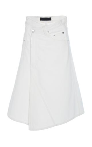 PROENZA SCHOULER | Proenza Schouler Asymmetric Denim Midi Skirt | Goxip