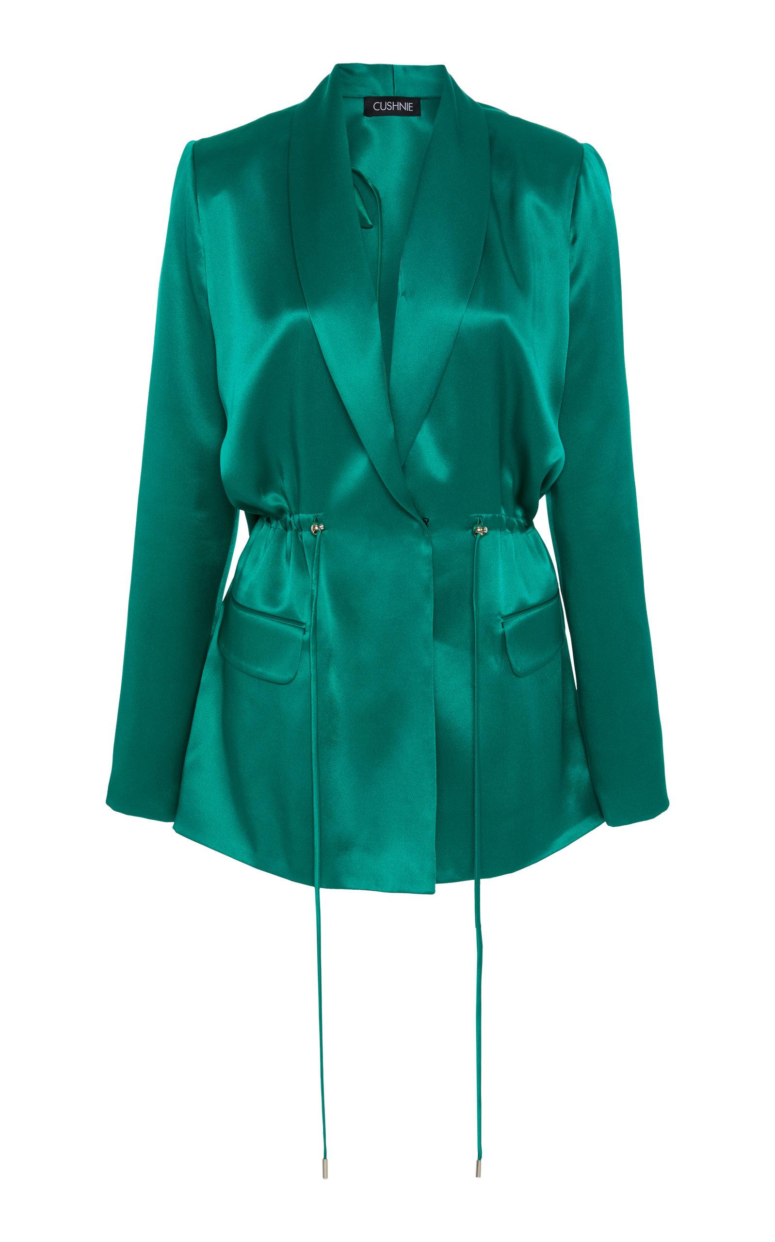 Cushnie Belted Silk Blazer
