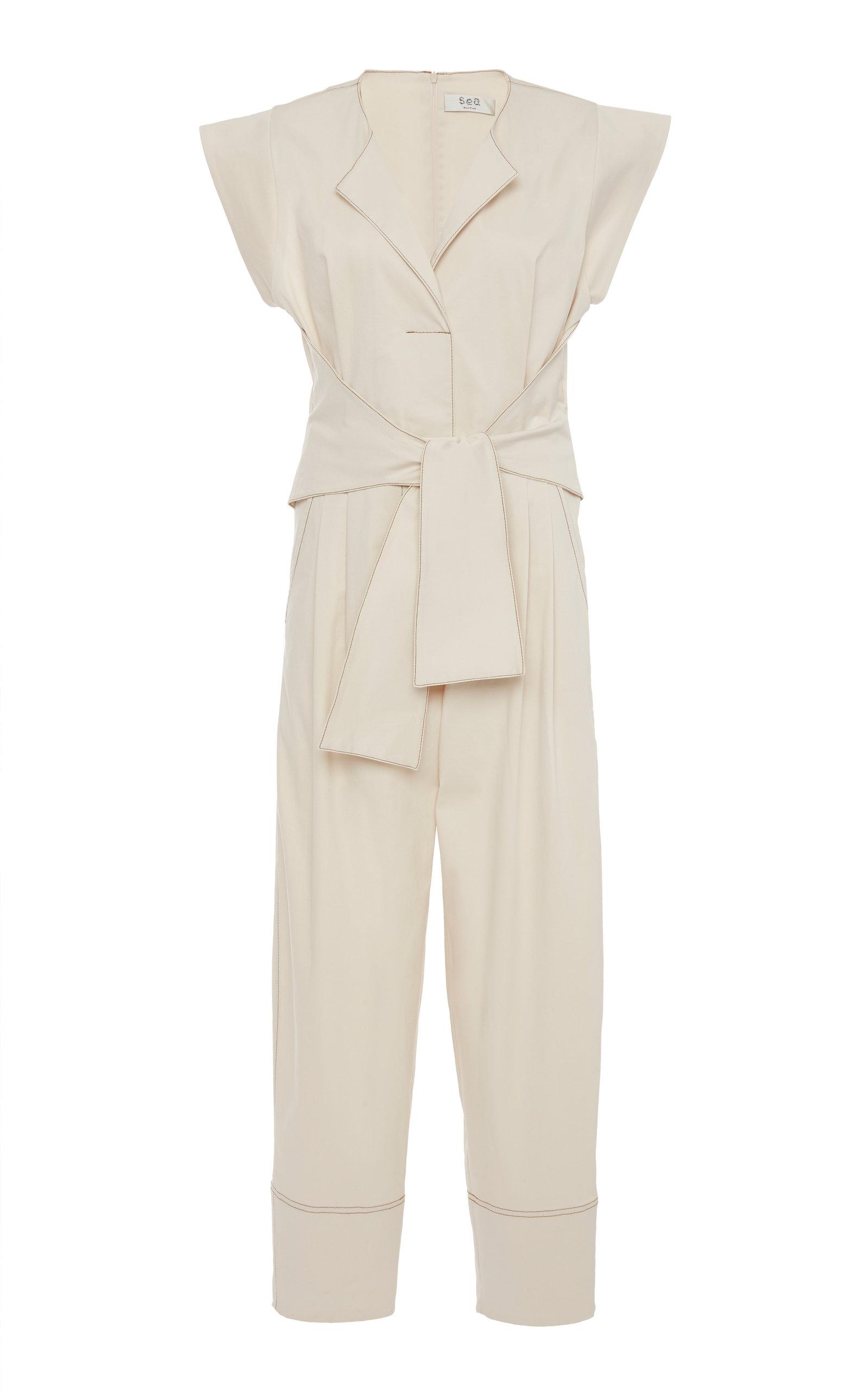 618ec474d93 SeaStella cotton blend jumpsuit. CLOSE. Loading