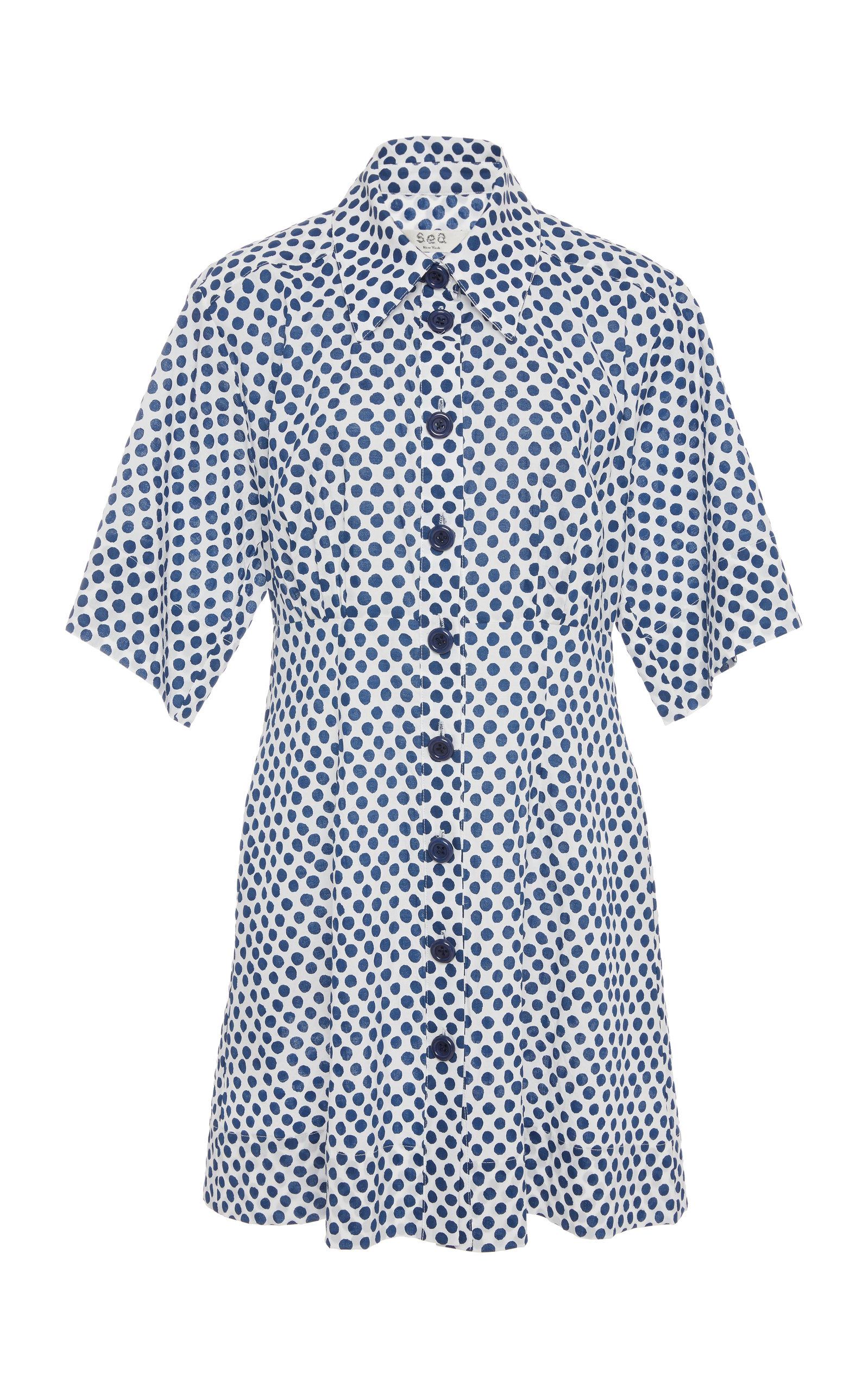 Sea POLKA DOT COTTON SHIRT DRESS