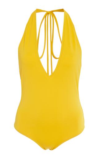 OSCAR DE LA RENTA | Oscar de la Renta V-Neck Swimsuit | Goxip