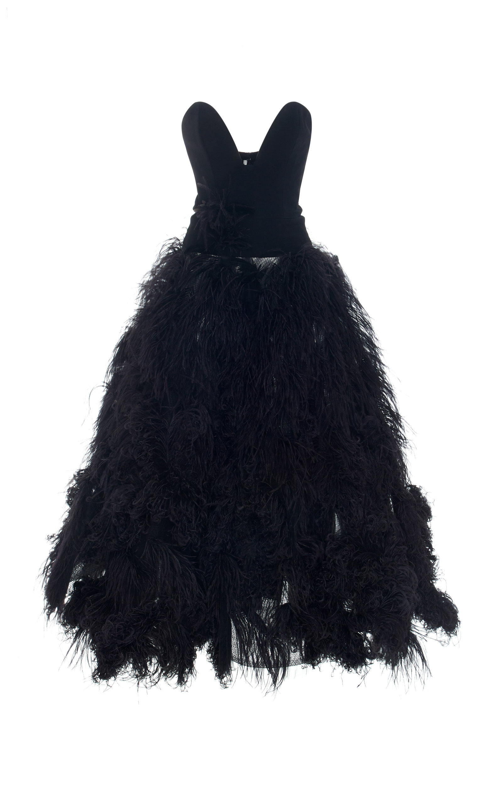 38ba48f8 Strapless Feather-Embellished Crepe Gown by Oscar de la Renta | Moda ...