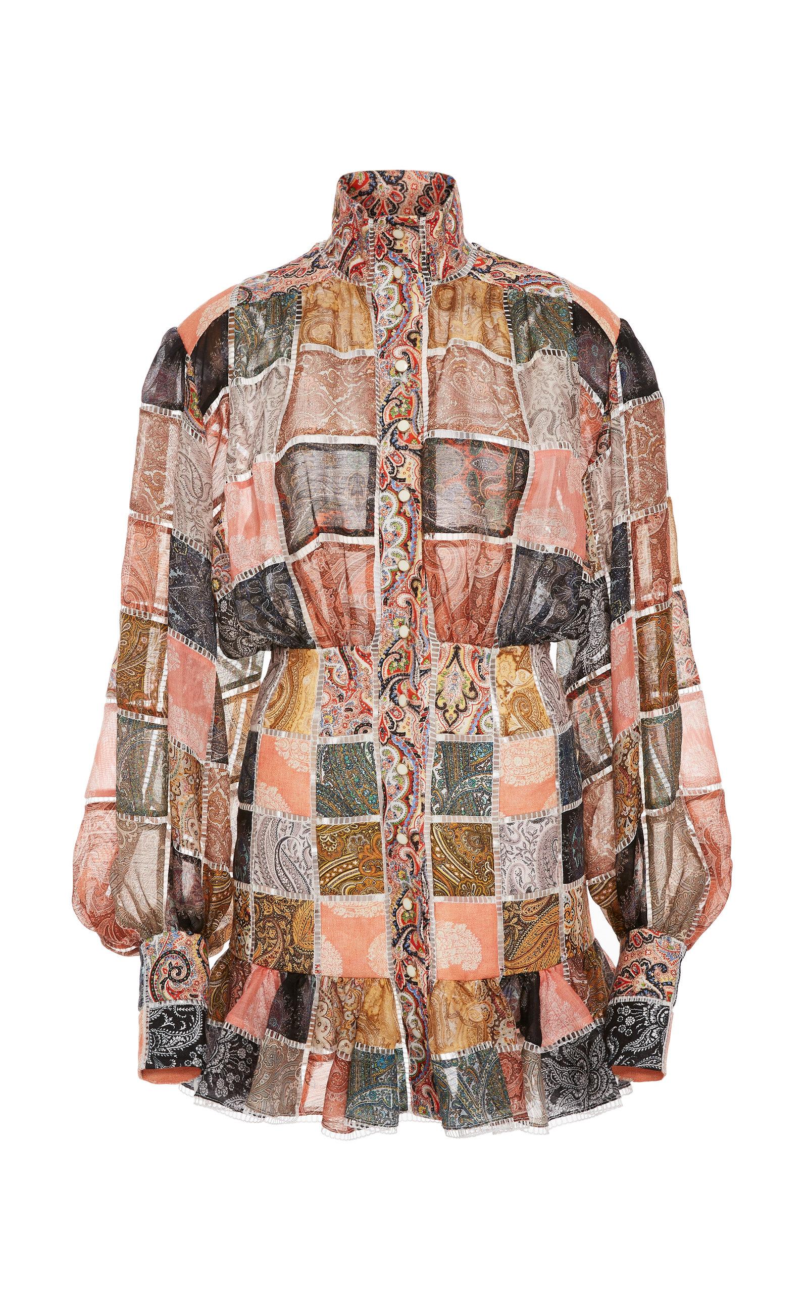 f8fa95791e79 Ninety-Six Patchwork Silk Mini Dress by Zimmermann | Moda Operandi