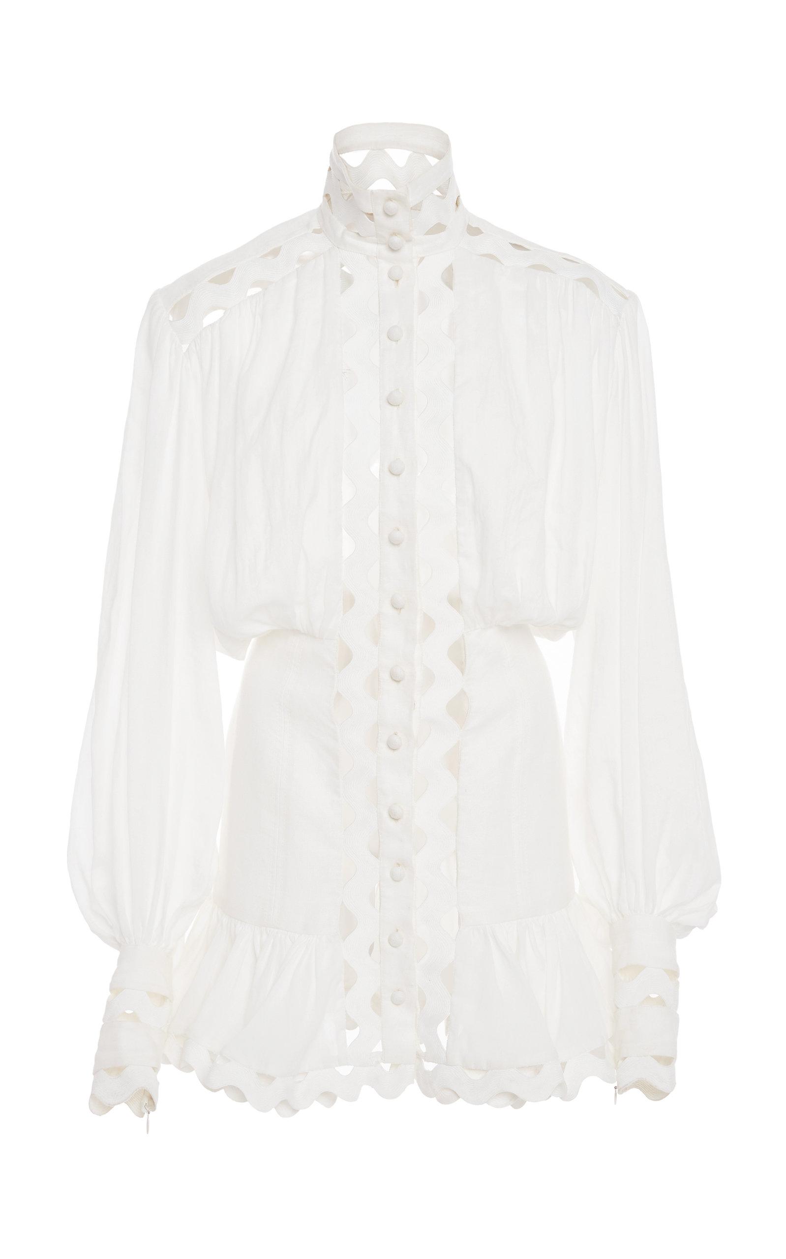 ZIMMERMANN | Zimmermann Ninety-Six Linen-Blend Mini Dress | Goxip