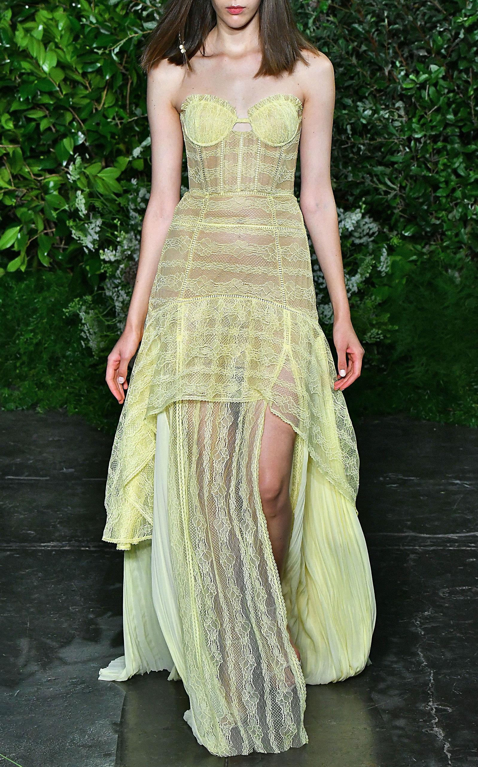 4baf8c9138a2 Lace Bustier Gown by Jonathan Simkhai | Moda Operandi