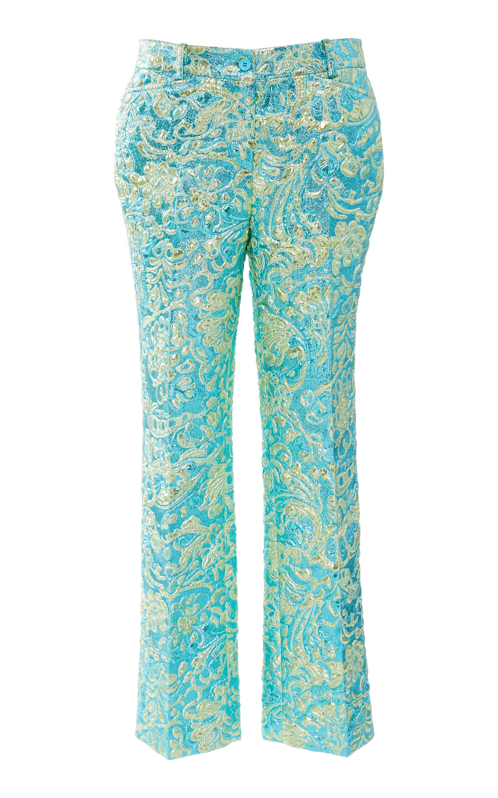 d43e79520badd Straight-Leg Mid-Rise Brocade Trousers by Michael Kors Collection ...