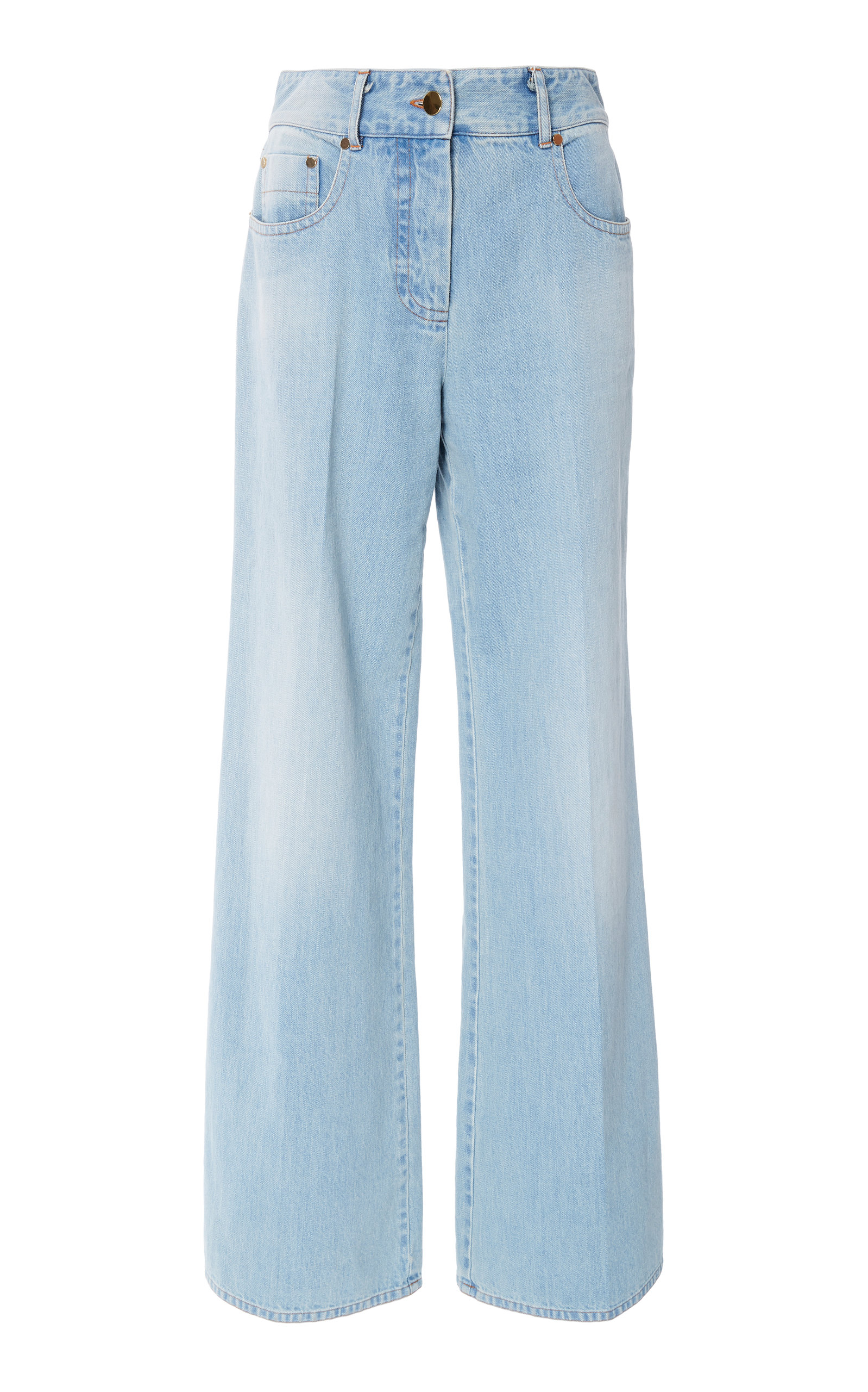 MICHAEL KORS | Michael Kors Collection Mid-Rise Wide-Leg Jeans | Goxip