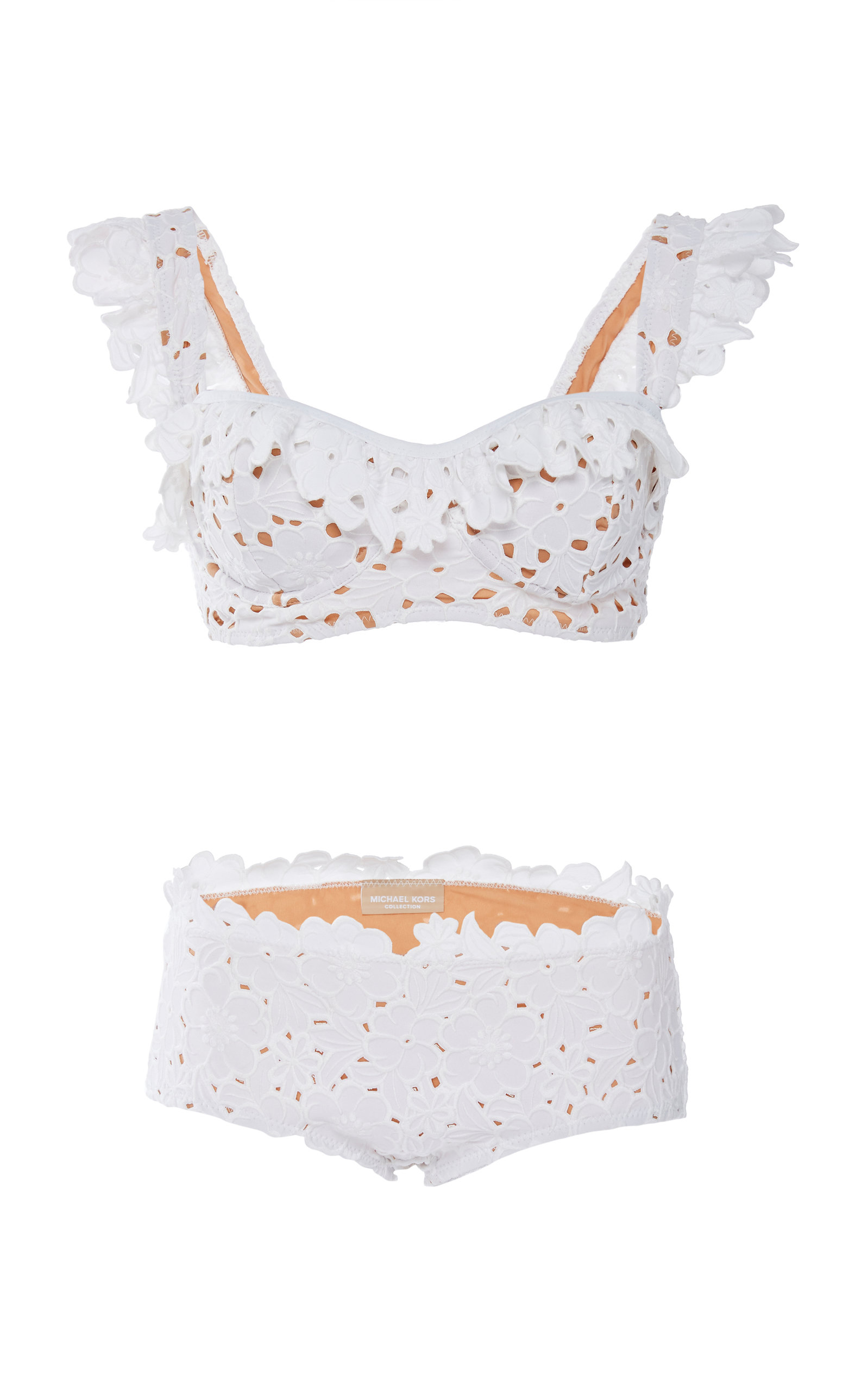 206c3127dd5fa Ruffled Eyelet Bikini Set by Michael Kors Collection | Moda Operandi