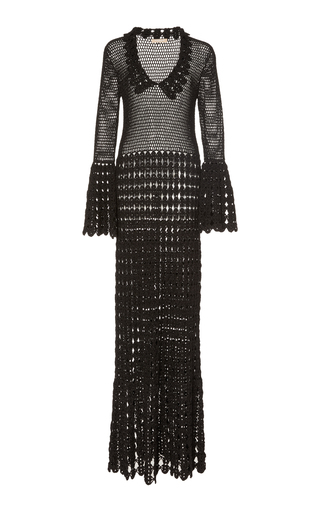 014317bf8 Crocheted Cotton Maxi Dress by Michael Kors Collection | Moda Operandi