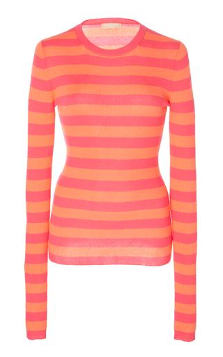 MICHAEL KORS | Michael Kors Collection Striped Cashmere Top | Goxip