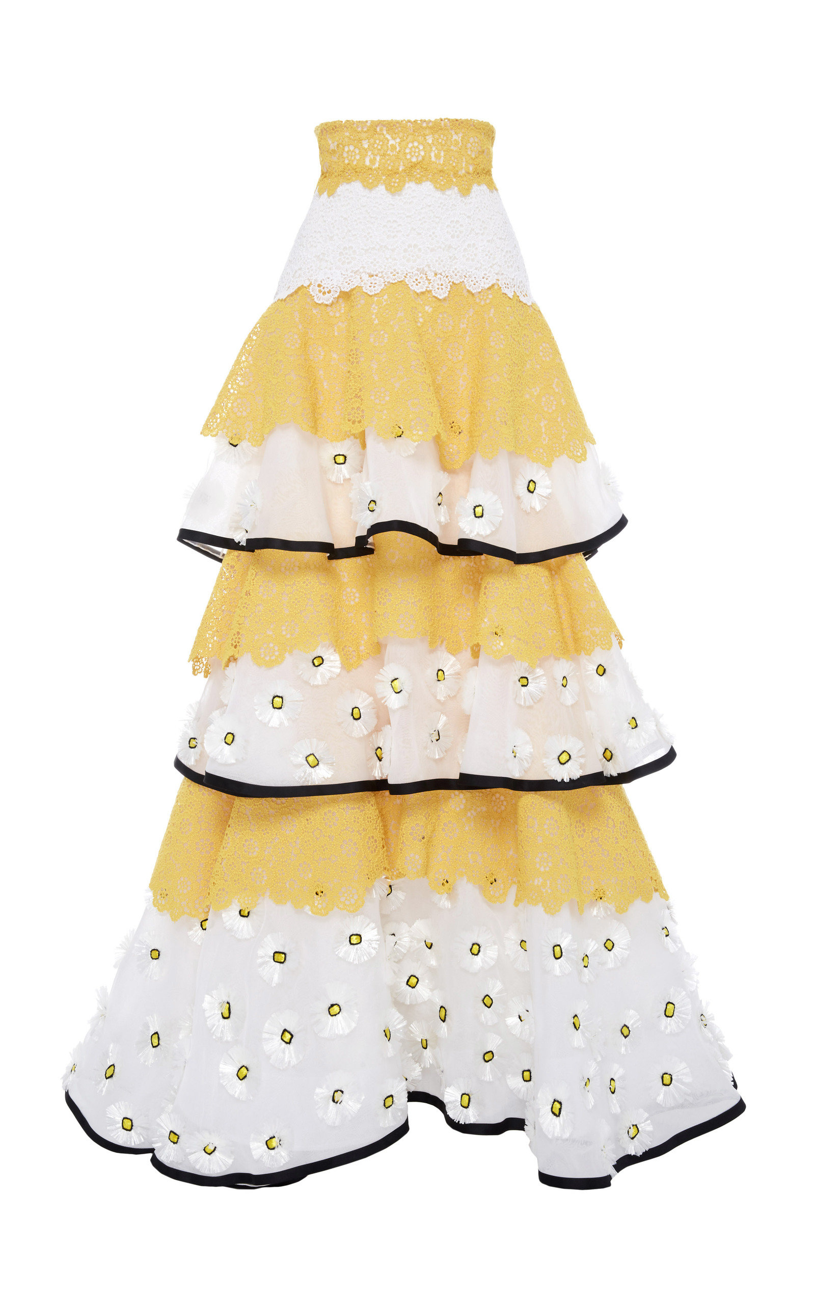 Carolina Herrera TIERED RUFFLED SKIRT